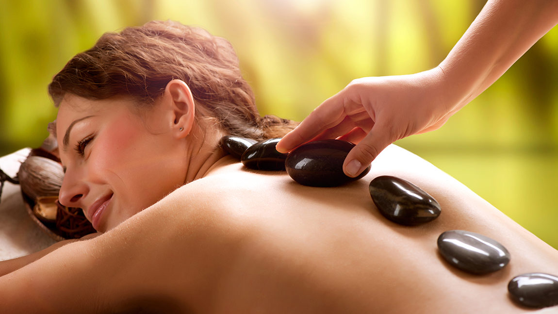 The hot stone massage therapy supplements the deep tissue massage